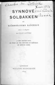 Synnove Solbakken Title Page