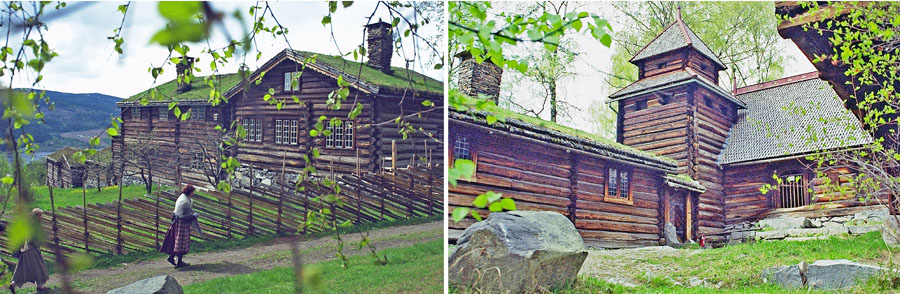 Maihaugen, one of Norway's largest out-door museums.